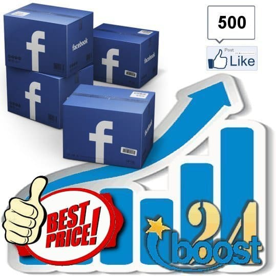 Buy 500 Facebook Post Likes / Fans