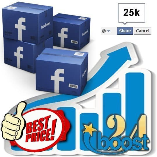 Buy 25.000 Facebook Post Shares