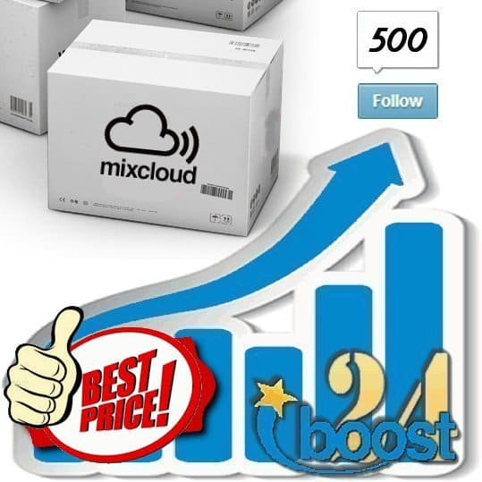 Buy 500 Mixcloud Followers