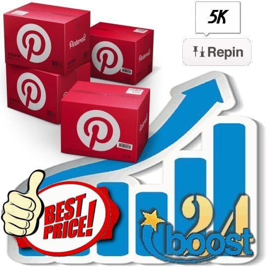 Buy 5000 Pinterest Repins