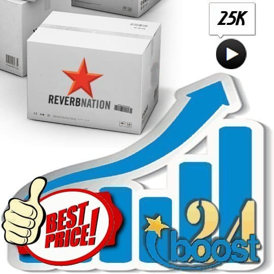 Buy 25.000 Reverbnation Plays