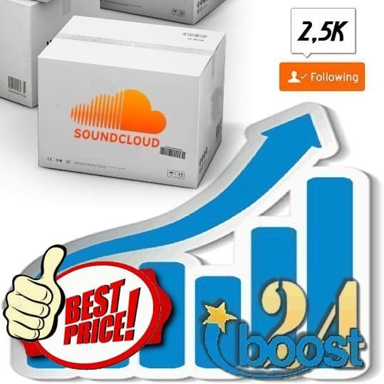 Buy 2.500 Soundcloud Followers