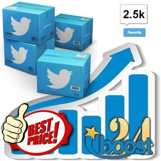 Buy 2500 Twitter Favorites
