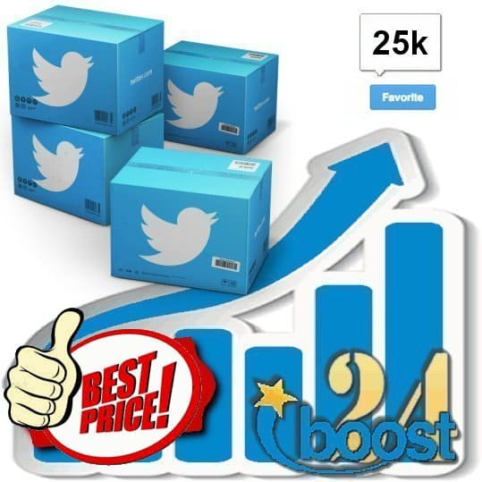 Buy 25.000 Twitter Favorites