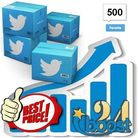 Buy 500 Twitter Favorites